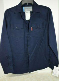 e79c6da147e5cd Benchmark for Women FR Flame Resistant L/S Shirt XL Blue New Work Welding #
