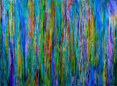 ARTFINDER: Lavender Spectra (Healing) by Nestor Toro - Very contemplative lavender colorfield full of colorful details and rich in texture. This painting has an iridescent tint and all the colors contrast with ea...