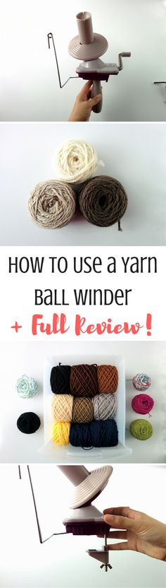 Learn all about how to use a yarn ball winder and check out my review for the KnitPicks one! Also, check out how this ball winder helps me organize my stash.