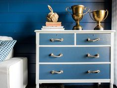 Use two shades of paint and a roll of sisal rope to transform a humdrum wood dresser into a cottage-style masterpiece. See how it's done >>