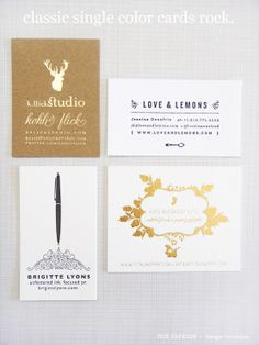 classic single color business cards