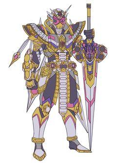 Kamen rider zi o king form Kamen Rider Kabuto, Kamen Rider Zi O, Kamen Rider Decade, Kamen Rider Series, Steampunk Armor, Power Rangers Samurai, Character Art, Character Design, Robot Cartoon