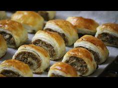Szybkie Roladki z pieczarkami - YouTube Calzone, Doughnut, Sushi, Dinner Recipes, Food And Drink, Appetizers, Baking, Ethnic Recipes, Party