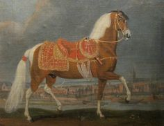 Image detail for -1650 - Johann Georg Hamilton - le cheval pie Cehero ruant