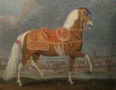 Image detail for -1650 - Johann Georg Hamilton - le cheval pie Cehero ruant
