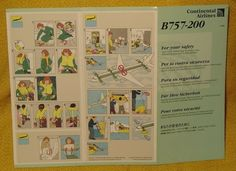 Continental Airlines Boeing 757-200 Safety Card