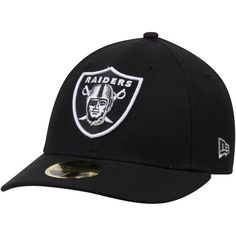 Oakland Raiders New Era Omaha Low Profile 59FIFTY Structured Hat - Black 0718145f6d1c