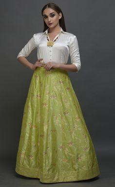 Best 12 Lime Green Banarasi Meenakari Zari Handwoven Skirt With Blouse Indian Wedding Guest Dress, Party Wear Indian Dresses, Indian Gowns Dresses, Sari, Brocade Lehenga, Banarasi Lehenga, Lehenga Blouse, Indian Attire, Indian Outfits