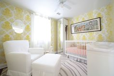 Our City Park wallpaper is perfect for both a baby girl or baby boy.