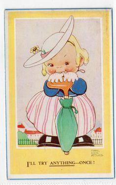 Mabel Lucie Attwell Valentine Sons Postcard NO 4581A Fashion | eBay