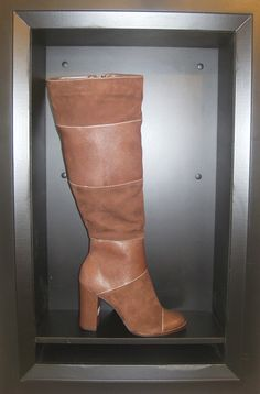Biondini two-toned brown leather and suede boots