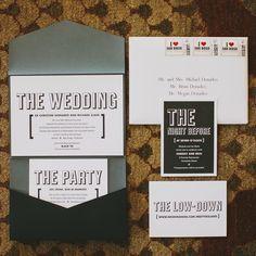 Modern Black and White Invitation Suite | Jackie Wonders Photographer | TheKnot.com