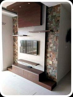 Tv Cabinet Design, Tv Wall Design, Tv Unit Design, Ceiling Design, Tv Unit Furniture, Furniture Ideas, Wall Mounted Tv Unit, Lcd Panel Design, Lcd Units