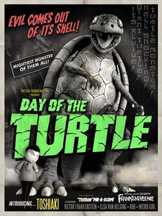 TB257. Day of the Turtle / Frankenweenie / Movie Poster (XXIII) (2012) / #Movieposter / #Timburton