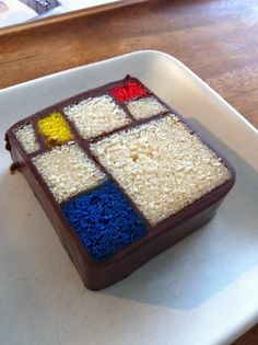 Mondrian cake from the San Francisco Museum of Modern Art (photo by Perry Gee)