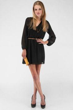 Honey punch long sleeve dress @ tobi.com, also in navy $33!