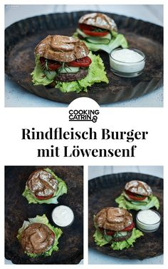 Burger, Rindfleisch Burger, rustikaler Burger, Burger Rezept, Löwensenf, Burger mit Löwensenf, burger recipe, rustic burger, meat burger, burger idea, Burger Idee, Rezept für Rindfleisch Burger