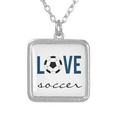 #Zazzle #Love #Soccer #Necklace #Sports