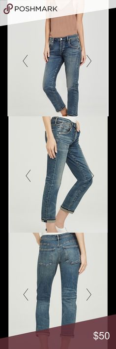 Emerson Slim Boyfriend Crop Jeans Emerson Slim Boyfriend Crop Jeans. Sizes 24, 25, 26 (from left to right in photos) My price is firm, if you know this brand you know it is a great deal. All hardly worn, in great condition, I prefer Avedon Crop Jeans on my body type. 🙂 Citizens of Humanity Jeans Ankle & Cropped