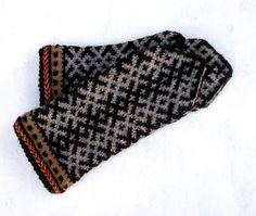 Knitted wool mittens handknit latvian mittens gray brown mitts nordic mittens speckled gloves ornamented ethnic mittens arm warmers knitting