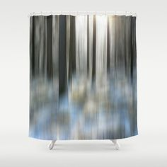 Shower Curtain Winter Woodland Abstract Art by MScottPhotography