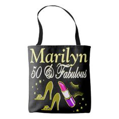 GOLD 50 AND FABULOUS PERSONALIZED TOTE BAG http://www.zazzle.com/jlpbirthday/gifts?cg=196128245923858498&rf=238246180177746410