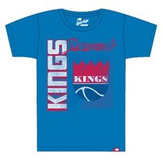 Sacramento Kings Retro Tubbs Comfy T-Shirt from Sportiqe Apparel Co. features a royal blue super soft cotton/polyester/rayon (25/50/25) blend t-shirt with a distressed screen print front graphic across the chest.
