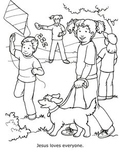 Jesus Loves Everyone Coloring Page