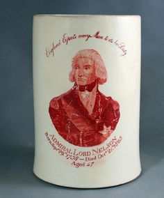 Creamware Mug commemorating the Life and Death of Nelson, circa 1805