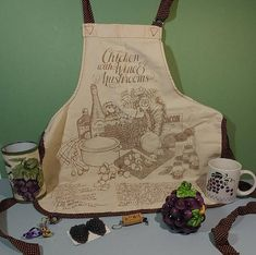 Items similar to 6 Pc Grape Theme Set Unisex Adult Apron Ceramic Jelly Jar Mug Cork Keychain FOB Decorative Soaps Country French Hostess Household Assortment on Etsy Chicken Wine, Decorative Soaps, Country Chic, Country French, Jelly Jars, Gifts For Cooks, Kitchen Collection, Wishing Well, Mushroom Recipes