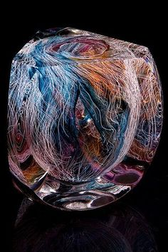 Portfolio of glass artist, Jon Goldberg. Art Of Glass, Glass Artwork, Bohemian Art, Glass Paperweights, Glass Vase, Mosaic Glass, Hand Blown Glass, Painting, Marbles