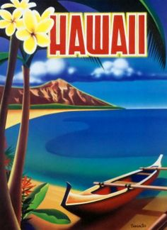 Old Oahu Hawaii Travel Poster - See More @gr8traveltips