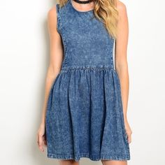 CLOSET CLEAR OUT{Denim dress} Perfect Denim dress to transition into any season. Please comment which size you would like & I will make a separate listing for you, please do not purchase the listing. I have this in S, M, or L. Great quality! Brand new dress!! Did not come with a tag attached(size tag inside) JW signature Dresses