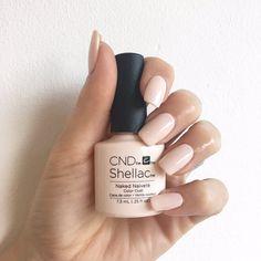 Shellac Nails Fall, Shellac Nail Colors, Shellac Manicure, Cnd Colours, Acrylic Nails, Rockabilly Nails, Natural Nails, Nails Inspiration, Beauty Nails