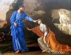 Noli Me Tangere - La Hyre - 54 Paintings of the Passion, Death and Resurrection of Jesus Christ