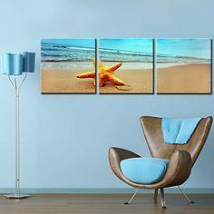 Stretched Canvas Print Art Landscape Sandbeach Set of 3 – AUD $ 70.82
