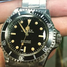 """Via Bob's Watches Instagram: http://instagram.com/bobswatches Nice Unpolished Vintage Rolex 5513 in """"Farm Fresh"""" Condition."""