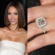 Jessica Alba's 5-carat asscher cut #engagement #ring