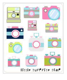 G024 Camera Stickers by LittleSurpriseShop on Etsy