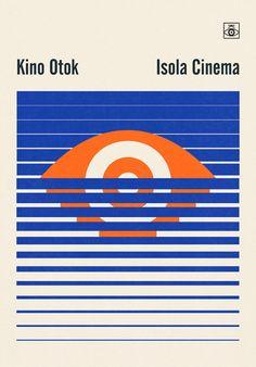 Nina Vrhovec of Multipraktik (Ljubljana, Slovenia) Visual identity for 11th anniversary of Isola Cinema film festival Silkscreen print by Urška Alič