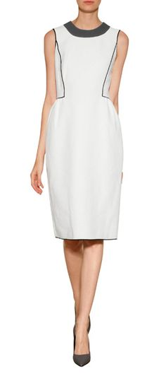 An optic white informs this sixties-inspired dress from Derek Lam #Stylebop