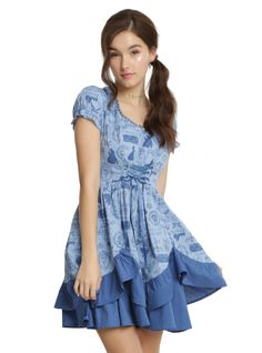 Belle Blue Rose Ruffle Dress ~ $60 ~ Beauty and the Beast Fashion!