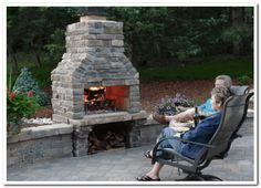 Outdoor Fireplace with BBQ - Taupe | DIY Garden Ideas | Pinterest ...