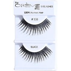 Crème Full Of Drama Faux Lashes ($2.99) ❤ liked on Polyvore featuring beauty products, makeup, eye makeup, false eyelashes и no color