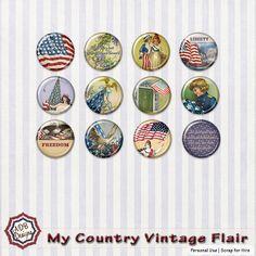 My Country Vintage Flair - $1.00 : Digital Scrapbooking Studio  #ADBDesigns #Digiscrap