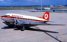 ANSETT Douglas DC-3-232A - (VH-ABR) Douglas Dc3, Helicopter Cockpit, Mcdonald Douglas, Australian Airlines, Douglas Aircraft, Airline Logo, Air Photo, Air New Zealand, Commercial