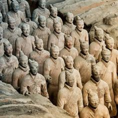 imaging: When it was unearthed by a man digging a well in rural China almost exactly 40 years ago, the Terracotta Army took the world by storm to become one of the greatest archaeological finds of all time. Lonely Planet, Bares Y Pubs, Statues, Terracotta Army, Ancient Greek Sculpture, Archaeological Finds, Ancient China, Ancient Art, Silk Road
