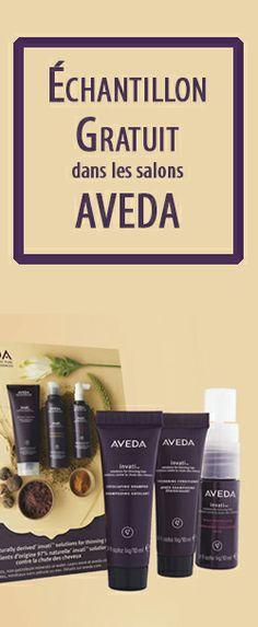 Échantillon de produit Aveda en salon.  http://rienquedugratuit.ca/produits-de-beaute/produit-aveda-en-salon/