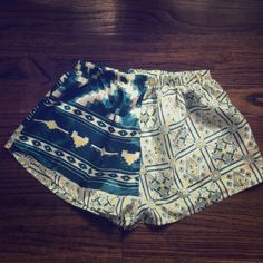 """UO Urban Renewal """"Sari Shorty"""" Shorts Green Urban Renewal Sari Pull On Short. Ordered online from Urban Outfitters. Didn't have tags but comes with original packaging. Just took them out of package to picture. Size Small. Expected color to be different so never even tried on. Brand new! Urban Outfitters Shorts"""