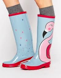 Image result for pink flamingo wellies